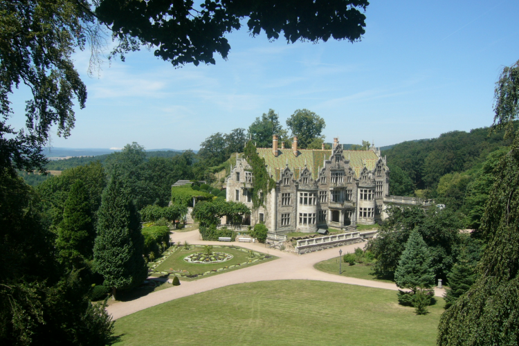 Schloss Altenstein aus der Vogelperspektive