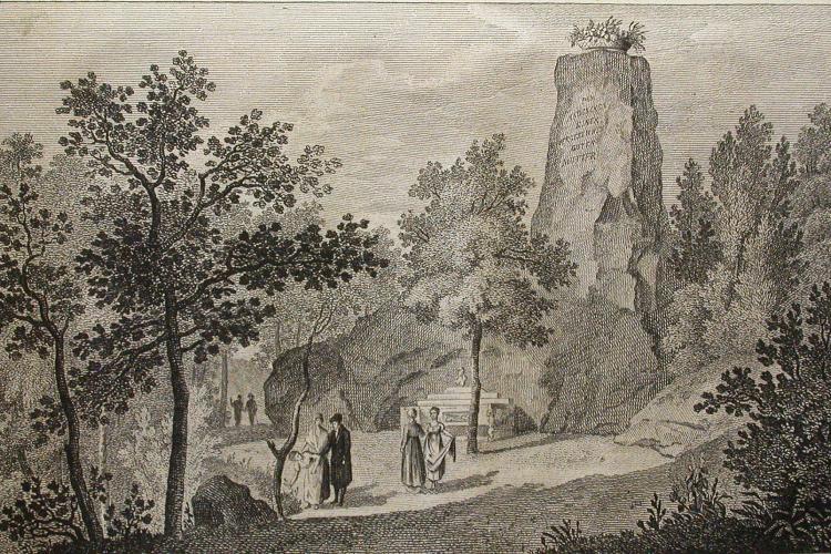 Greifenbank und Blumenkorb im 19. Jahrhundert